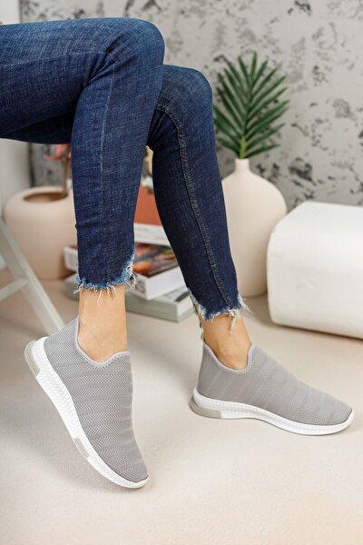meyra'nın ayakkabıları Gri Çorap Sneaker