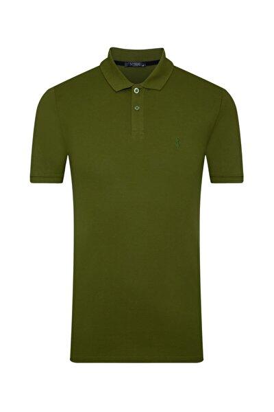 SÜVARİ Erkek Açık Yeşil Slim Fit Polo Yaka  Tişört