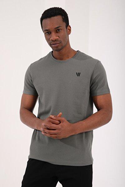 Tommy Life Çağla Erkek Petek Dokulu Çift Ok Logolu Standart Kalıp O Yaka T-shirt - 87921