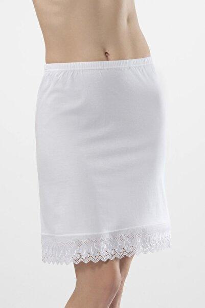 TÜREN Kadın Beyaz-Beyaz 2'Li Penye Jüpon