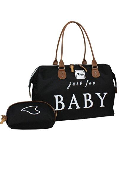 Stylo Kadın Siyah Just For Baby Anne Bebek Bakım Ve Çantası