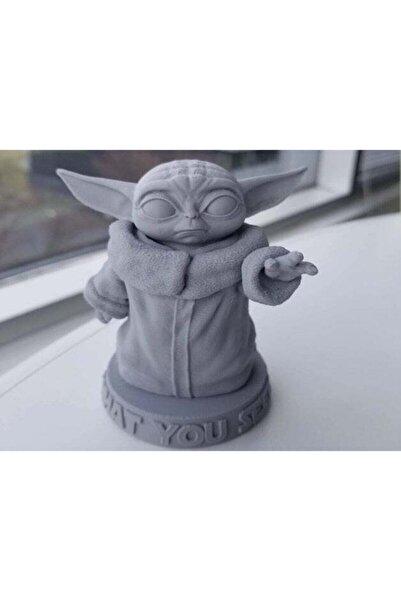 3D Star Wars Mandalorian Sevimli Baby Bebek Yoda Büstü Heykeli