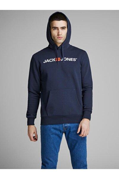 Jack & Jones Jack&jones Erkek Baskılı Kapüşonlu Sweatshirt 12137054