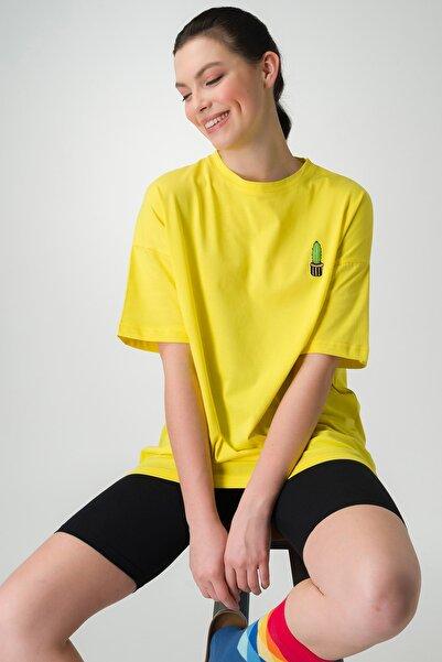 Runever Kadın Sarı T-shirt Şort Takım 22093