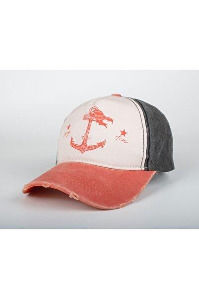 DMONA Turuncu Denizci Çapa Eskitme Balıkçı Şapka