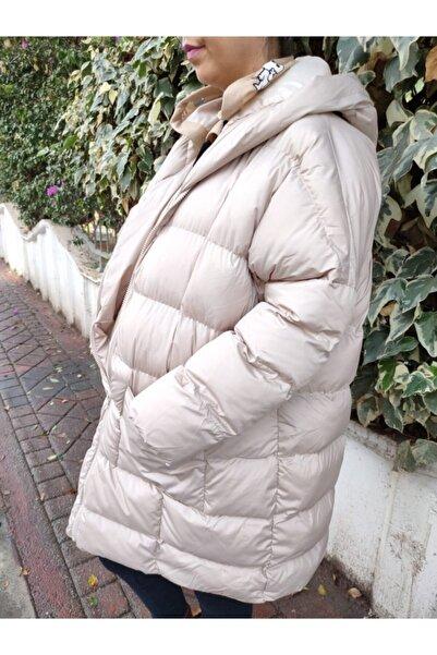 BİTAKIBİSAAT Kadın Oversize Şişme Mont Kapüşonlu Standart