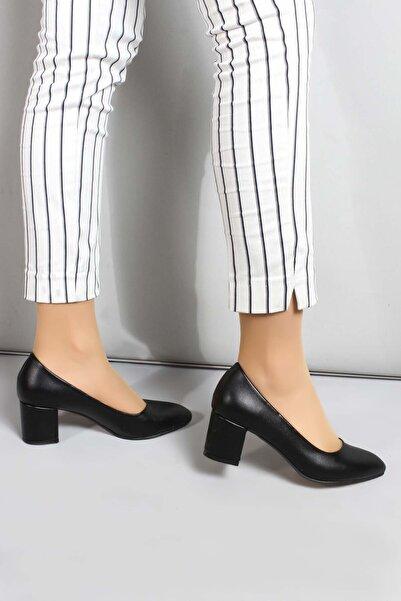 FAST STEP Kadın Siyah Kalın Topuklu Ayakkabı 961za559