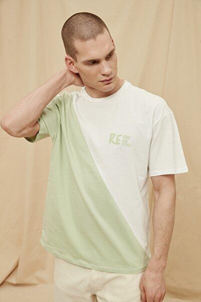 TRENDYOL MAN Mint Erkek %100 Organik Pamuk Oversize Fit T-Shirt TMNSS21TS1457