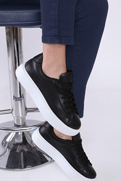 TaximArt Kadın Siyah Wish Deri Spor Ayakkabı