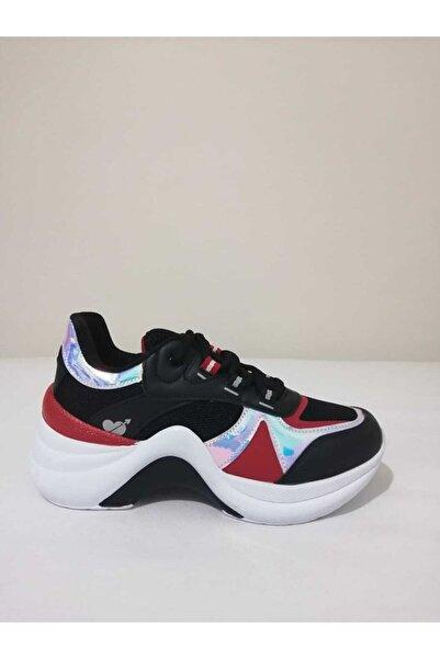 Twingo Kadın Siyah Sneaker Dolgu Taban Ayakkabısı