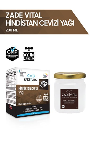 Zade Vital Hindistan Cevizi Yağı - 200 ml