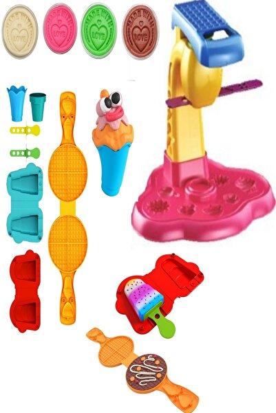 ChildGen Play Dough Doğal Oyun Hamuru Dondurma Ve Cupcake Modelleme Seti