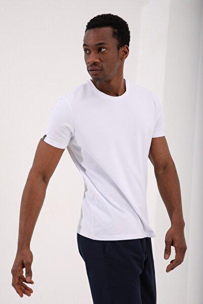 Tommy Life Beyaz Erkek Basic Kısa Kol Standart Kalıp O Yaka T-shirt - 87911