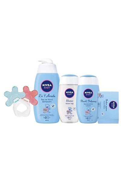 Nivea Saç Ve Vücut Şampuanı  500 ml Bebek Yağı 200 ml Nemlendirici Losyon 200ml Sabun Sulu Dişlik Çıngırak