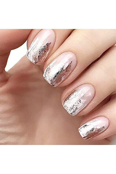 Artikel Gümüş Renk Transfer Tırnak Dövmesi, Tırnak Sticker, Nail Tattoo, Nail Art