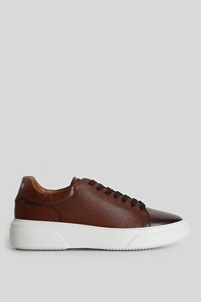 Lufian Tommy Deri Sneaker Taba