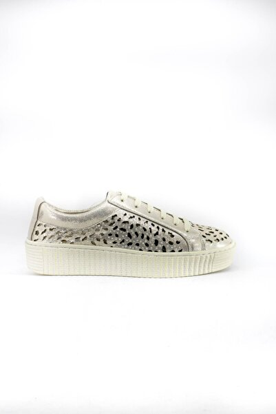 İnci Kadın Gümüş Renk Deri Ayakkabı