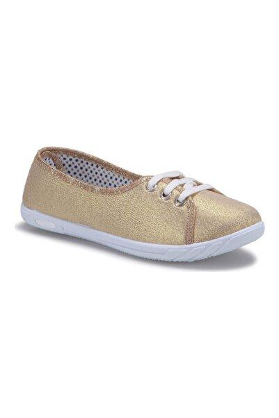 Polaris Kadın Altın Rengi Günlük Babet Ayakkabı 354991