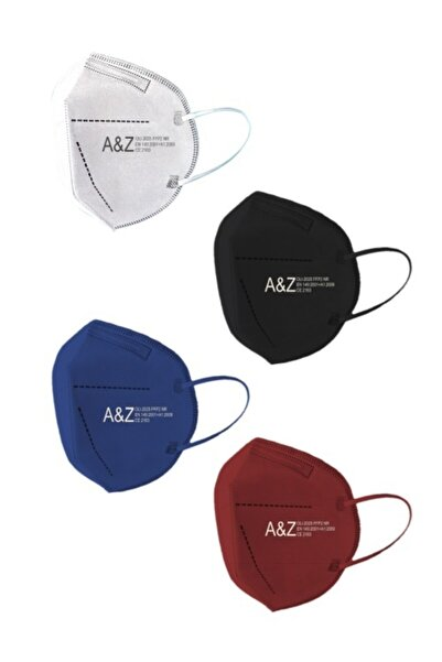 A&Z Med N95 Maske Telli ve Kutularda Maske 4 Renk 10'lu