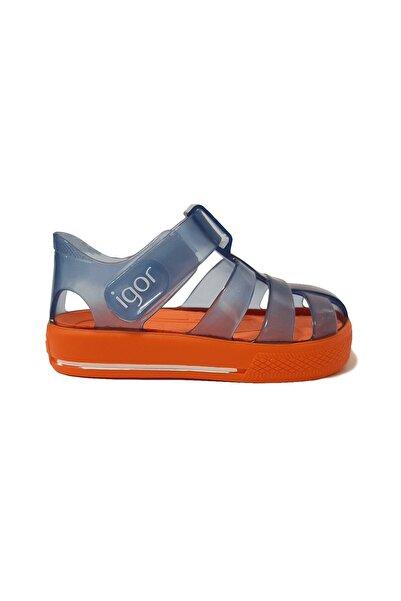 IGOR Star Bebek Sandalet Lacivert-turuncu