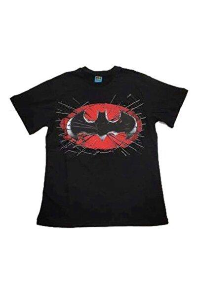 Batman Unisex Kırmızı Logo Siyah Orijinal Lisanslı Tshirt