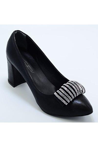 PUNTO 595371 Kadın Abiye Parlak Topuklu Ayakkabı