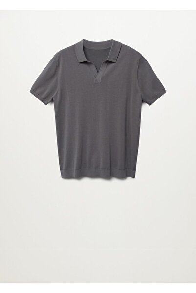 MANGO Man Erkek Premium Pamuklu Örgü Polo Gömlek