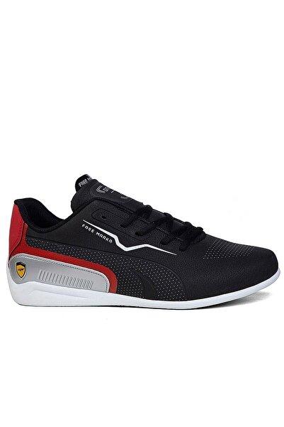 Matilla Erkek Siyah Kırmızı Spor Ayakkabı