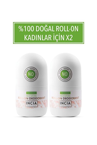 Incia Doğal Roll-on Deodorant For Women 50 ml X 2