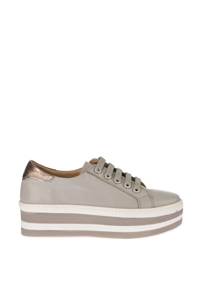 İnci Hakiki Deri Açık Gri Kadın Klasik Ayakkabı 120130006605