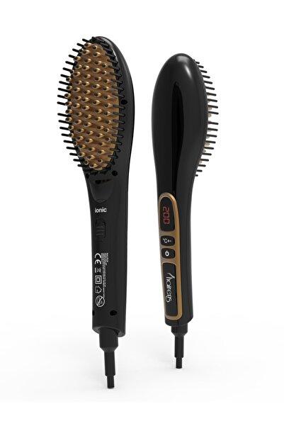 Hairens Ion-700 Iyonik Seramik Elektrikli Saç Düzleştirici Tarak Fırça / Altın