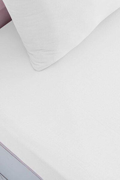 VAROL Çift Kişilik Penye Çarşaf Takımı - Beyaz