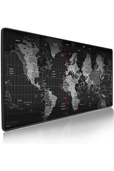 SNEXPRES Gaming Mousepad Dünya Desenli 90 X 40 Cm Dünya Desenli Mause Pad