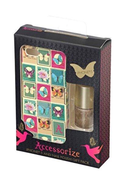 Accessorize Apple iPhone SE/5S/5 Accessorize Pul Desenli Ojeli Sert Kılıf