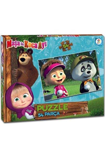LAÇO Masha Koca Ayı 54 Parça Çocuk Puzzle