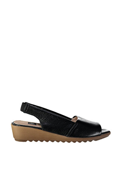 İnci Hakiki Deri Siyah Kadın Sandalet 120130006951