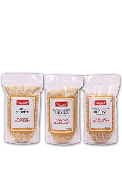 Kuzeyli Gıda Yardımcı Set - Arpa Şehriye 1 Kg - Buğday Aşurelik -keşkeklik 1 Kg - Köftelik Bulgur 1kg
