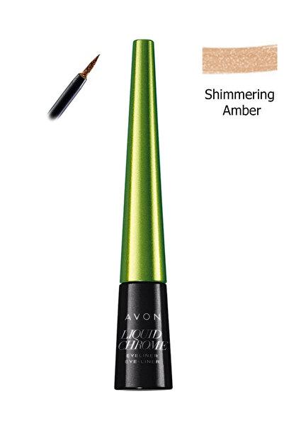 AVON Metalik Likit Eyeliner Shimmering Amber 5050136924713