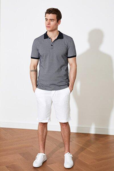 TRENDYOL MAN Lacivert Erkek Slim Fit Kısa Kollu Polo Yaka T-shirt TMNSS21PO0212