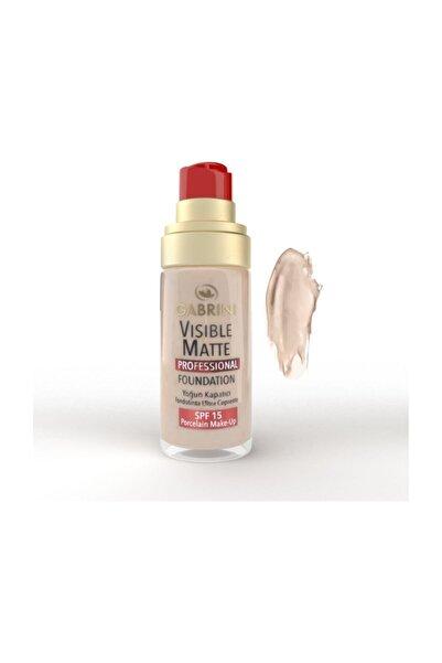 Gabrini Visible Matte Fondöten Açık Ton 30 ml