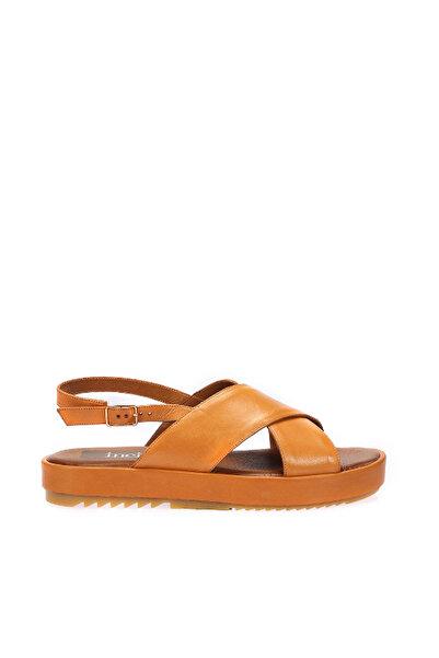 İnci Hakiki Deri Taba Kadın Sandalet 120130005434