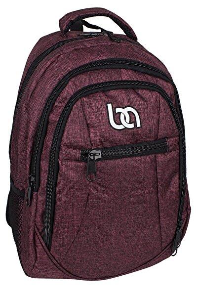 Bagacar 307 Laptop Bölmeli Okul Ve Günlük Sırt Çantası Bordo
