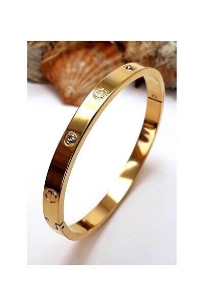 Cartier Gold Kararmaz Çelik Bileklik