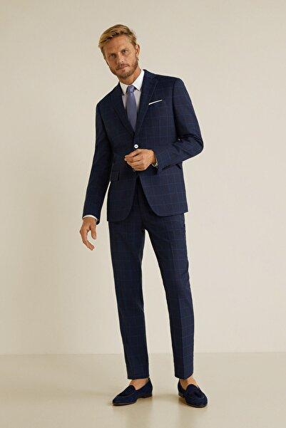 MANGO Man Erkek Lacivert Pantolon 43020502