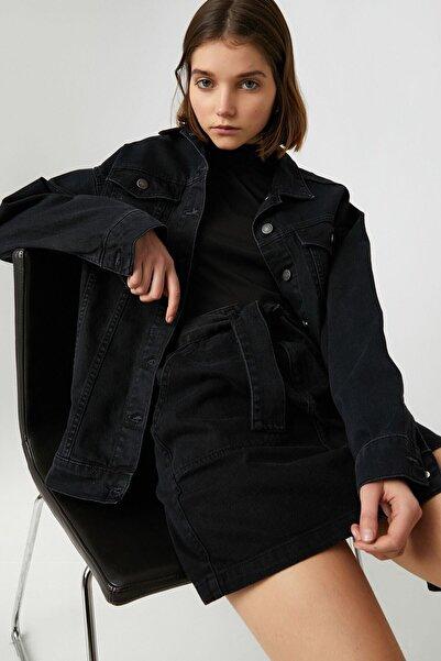 Koton Kadın Siyah Ceket 1KAK57018MD