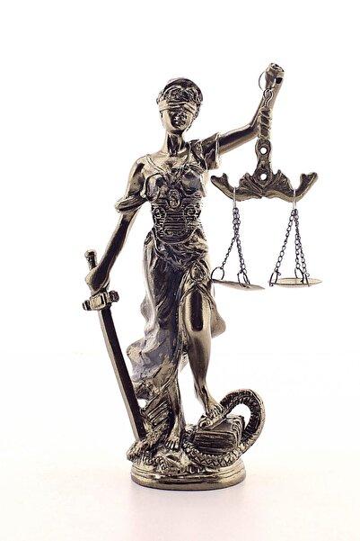 Deco Elit Adalet Terazisi Heykeli Gold Eskitme Orta Boy Gold 19 cm