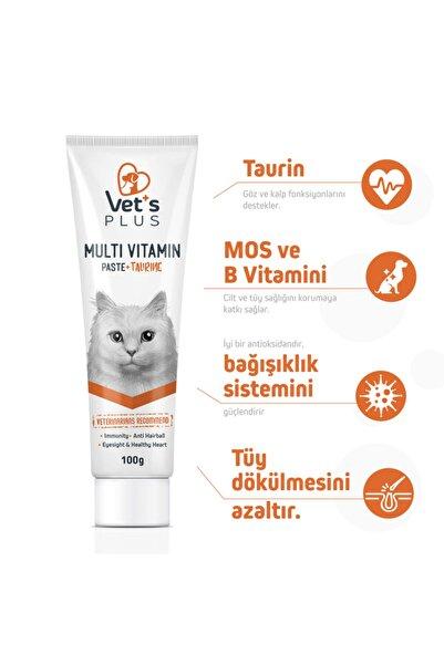 Vet's Plus Sağlıklı Kediler Için Taurinli Multi Kedi Macunu 100gr