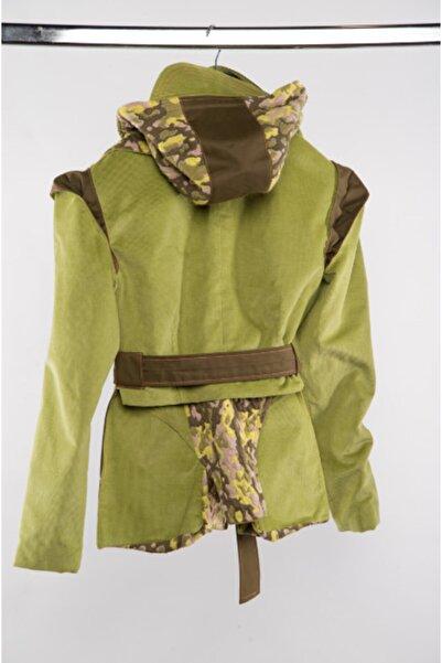 Futuristiklover Unisex Yeşil Kadife Ceket