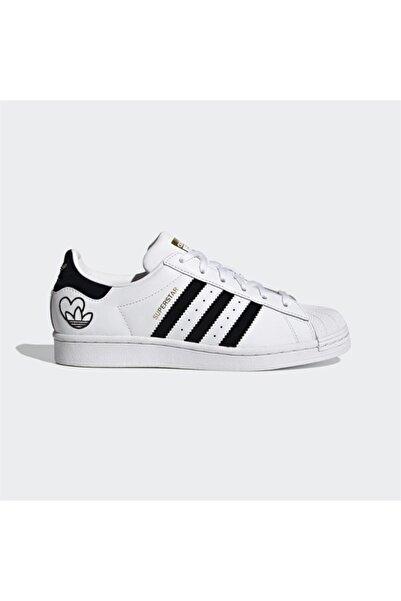 adidas Kadın Beyaz Bağcıklı Superstar Yürüyüş Ayakkabısı