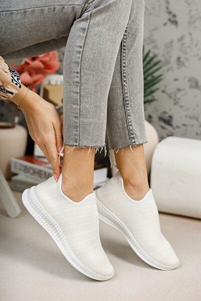 meyra'nın ayakkabıları Beyaz Çorap Sneaker